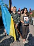 Adieu aux défenseurs tombés de l'Ukraine Denis Gromovyy Image stock