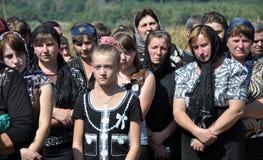 Adieu aux défenseurs tombés du _7 de l'Ukraine Denis Gromovyy Image stock
