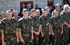 Adieu aux défenseurs tombés du _8 de l'Ukraine Denis Gromovyy Photos stock