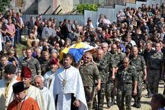 Adieu aux défenseurs tombés du _9 de l'Ukraine Denis Gromovyy Image libre de droits