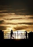 Adieu de coucher du soleil photos libres de droits