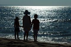 Adieu vers la mer - la fin des vacances Photos stock