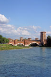 adige ποταμός Βερόνα κάστρων Στοκ εικόνες με δικαίωμα ελεύθερης χρήσης