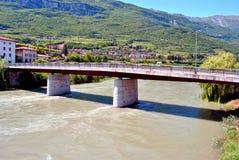 Adige-Fluss Lizenzfreie Stockfotografie