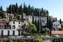 Adige-Fluss-Damm in Verona Stockfotografie