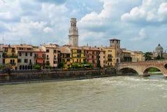 Adige-Fluss in Verona Lizenzfreies Stockfoto