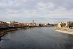 Adige-Fluss in Verona Stockbild