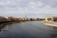 Adige-Fluss in Verona Stockbild