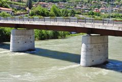 Adige river Stock Images