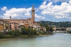 Adige River Embankment in Verona, Italy Royalty Free Stock Photos