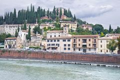 The Adige River Embankment in Verona, Italy Royalty Free Stock Photography
