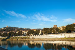 Adige River and Hills - Verona Italy Stock Photography