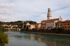 The Adige River, Verona and Cathedral Royalty Free Stock Images