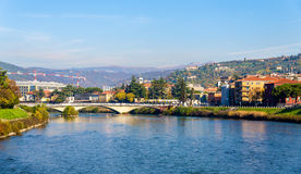 The Adige river in Verona Royalty Free Stock Photo