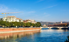 The Adige river in Verona Royalty Free Stock Images