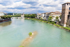 Adige river in Verona ,Italy Stock Photography