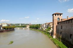 Adige river in Verona Stock Image