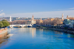 Adige River, Verona Royalty Free Stock Images