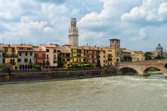 Adige River in Verona Royalty Free Stock Photo