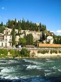 Adige rzeki przód w Verona Fotografia Stock