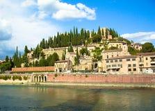 Adige rzeki przód w Verona Obrazy Stock