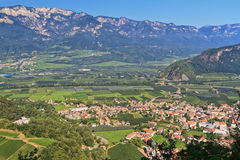 Adige Valley - Ora village Royalty Free Stock Images