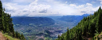 The Adige Valley in South Tyrol Royalty Free Stock Photo