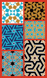 Adil Seamless Patterns Set Photo libre de droits