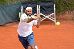 Adil Shamasdin (tennis player from Canada) plays at the ATP Barcelona Royalty Free Stock Image