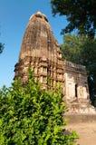 Adinath świątynia Jain świątynie Khajuraho Fotografia Stock