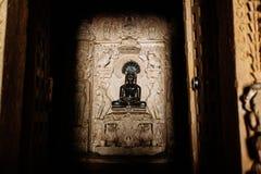 Adinath Jain tempel Östlig grupp av tempel, Khajuraho, Madhya Royaltyfri Foto