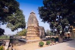 Adinath Jain tempel Östlig grupp av tempel, Khajuraho, Madhya Royaltyfria Bilder