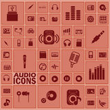 Adio icons Royalty Free Stock Images
