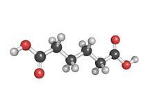Adipic kwas, nylonowy element (poliamidu) royalty ilustracja