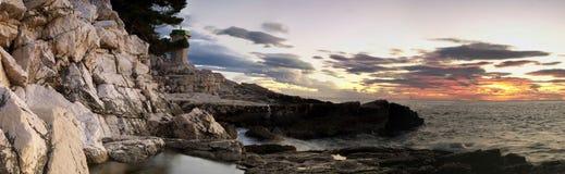 Adiratic panorama sunset Stock Photography