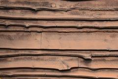 Adirondack-Abstellgleis braun befleckt Stockbilder