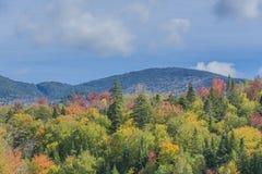 Adirondack Autumn Scenery Royaltyfria Bilder