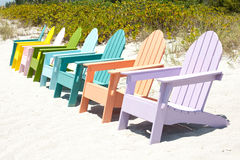 Adirondack beach chairs Stock Images