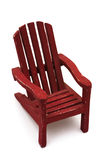 Adirondack Chair. Isolated on a white background Royalty Free Stock Photography