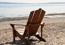 Chair and beach Royalty Free Stock Images