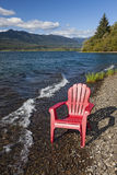 Adirondack Chair by Lake Royalty Free Stock Photo