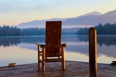 Sunrise Lake   Stock Image