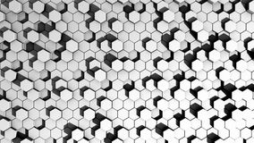 Adirondack chairs. Abstract hexagon white and black Stock Photos