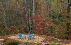 Adirondack Chairs ~ Fall Scene Royalty Free Stock Photo