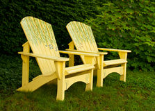 Adirondack chairs Royalty Free Stock Photos