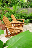 Adirondack chairs outdoors Royalty Free Stock Photo