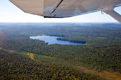 Adirondack forests, lakes, creeks and mountains aerial terrain v Stock Photo