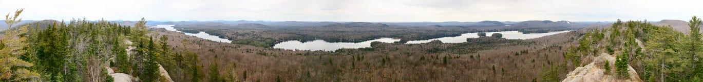 Adirondack gór panorama z jeziorami Zdjęcia Stock