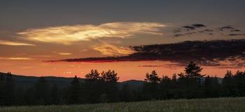 Adirondack-Gebirgs-Sonnenuntergang, Nord-Elba, New York Stockfoto