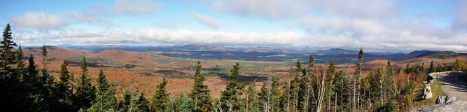 Adirondack Gebirgspanorama Stockfotos